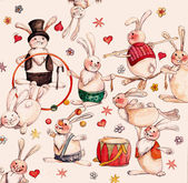 Circus hares — Stock Photo