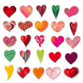 Set of multicolored hearts — Stock Vector