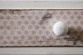 Shabby chic white button — Stock Photo