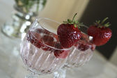 Cocktail with strawberries — Stock Photo