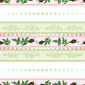 Seamless pattern of roses and of stripes — Stock Vector