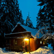 Cabin with Snow — Stock Photo