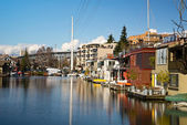 Seattle Houseboats — Stock Photo
