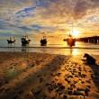 Fishing Boat Hua-Hin beach at dawn. — Stock Photo #13183489
