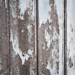 A rotting wooden door with peeling paint — Stock Photo