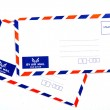 Air mail envelope isolated on white background — Stock Photo