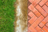 Brick footpath background. — Stock Photo