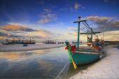 Fishing boat on the huahin beach, Thailand — Stock Photo