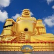 Buddha statue in chinese temple on blue sky — Stock Photo #29263121