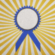 Stock Photo: Blue blank award with ray of light, create from paper craft.