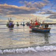 Fishing boat on the huahin beach, Thailand — Stock Photo