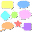 Comic speech bubbles set — Stock Photo #10756482