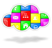 Cloud applications and services — Stock Photo