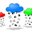 Stock Photo: Cloud computing competition concept illustration