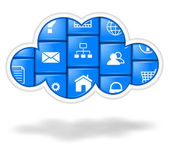 Cloud applications, cloud computing concept — Stock Photo