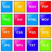 Série de ícone de extensão de arquivo — Foto Stock