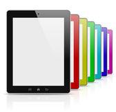 Tablet pc seria kolorowa tęcza — Zdjęcie stockowe