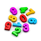 3D colorful funny disorderly digits illustration — Stock Photo