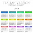 2014 calendar italian version — Stock Photo