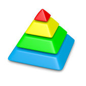Colorful pyramid 4 levels stack — Stock Photo