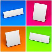 Placeholder White Label Set — Stock Photo