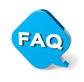 FAQ Speech Bubble — Stock Photo