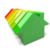 Houses Energy Efficiency Levels — Stock Photo