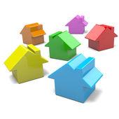 разноцветные дома — Стоковое фото