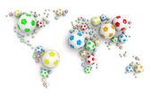 Soccer Ball World Map — Stock Photo