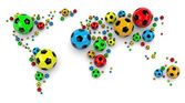 Soccer Ball World Map — Stock Photo