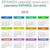 2015 Calendar Spanish Language Version Mon - Sun — Stock Photo