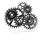 Metallic Cogwheels — Stock Photo
