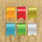 Sada barevných stuh — Stock vektor