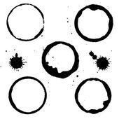 黒い汚れ — ストックベクタ