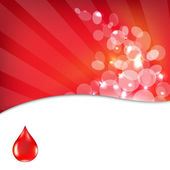 Red Background With Drop Blood — Stock Vector