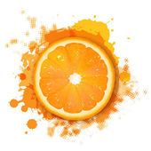 Orange med orange klump — Stockvektor
