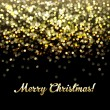 Golden Defocused Merry Christmas Background — Stock Vector