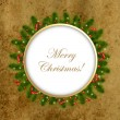 Christmas Composition With Old Paper - Stock Vector