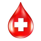 Red Blood Drop — Stock Vector