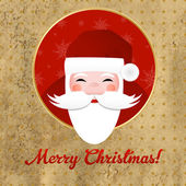 Greeting Vintage Card With Santa Claus — Stock Vector