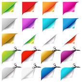 Set di grandi angoli colorati — Vettoriale Stock