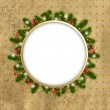 Royalty-Free Stock Imagem Vetorial: Christmas Border With New Years Tree