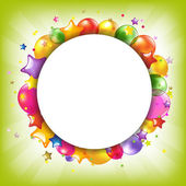 Happy Birthday Colorful Card With Speech Bubble — Vecteur