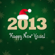 New Years Composition With Santa Hat — Vector de stock #13712811