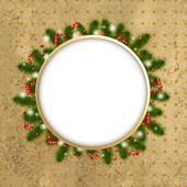 Composición de navidad con estrellas y baya — Vector de stock