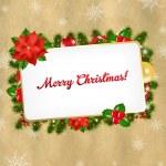 Christmas Vintage Blank Gift Tag — Stock Vector #15406889