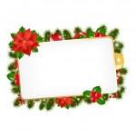 クリスマス ビンテージ空白ギフト タグ — ストックベクタ