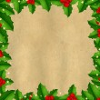 Royalty-Free Stock Vektorfiler: Border With Holly Berry And Vintage Paper