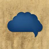 Nuvoletta blu con carta d'epoca — Vettoriale Stock