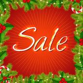 рождественские продажи плакат — Cтоковый вектор